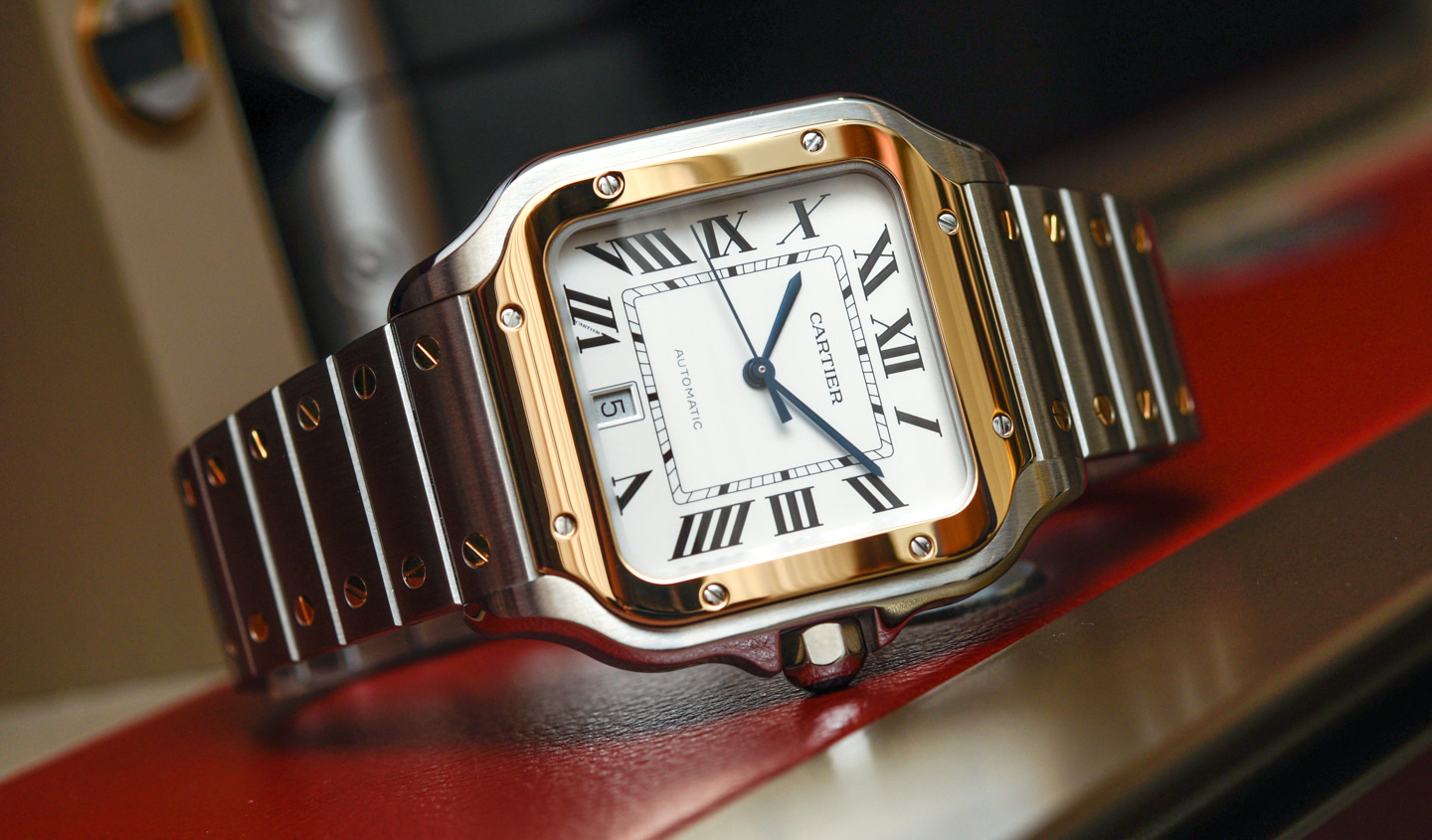 product ladies santos preowned watches automatic of cartier