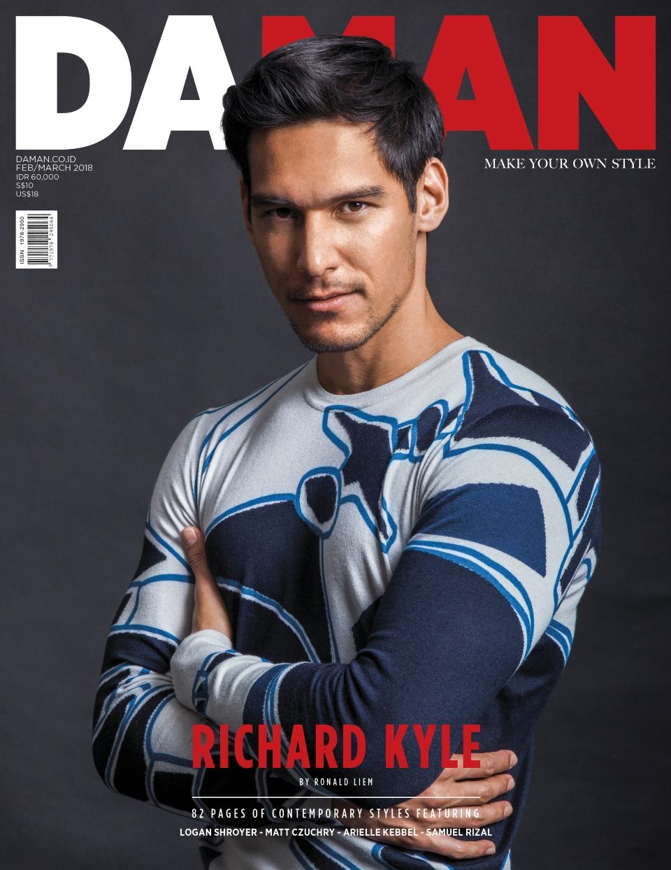 Cover + Blurps[small] - DA MAN magazine cover Richard Kyle Ronald Liem
