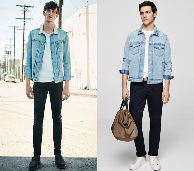 a4d4f430ad5 Keep things simple with a simple with tee under your denim jacket. Nothing  sounds easier than this classic style