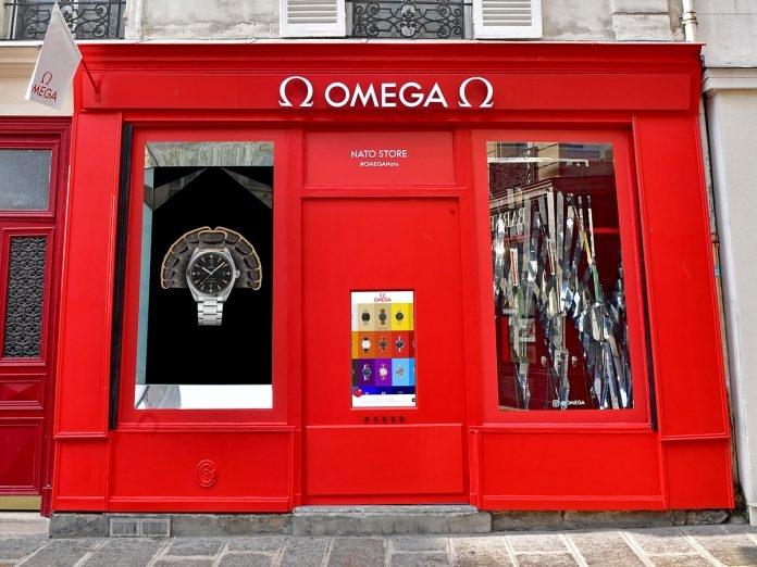 omega launches unique pop up store in paris da man magazine. Black Bedroom Furniture Sets. Home Design Ideas