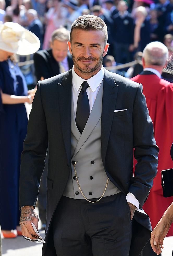 David Beckham Has The Best Morning Coat At Royal Wedding Da Man Magazine