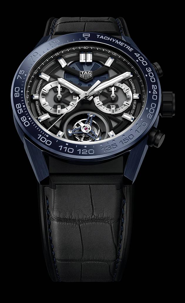 "4fde5aa2c515 TAG Heuer Carrera ""Tête de Vipère"" Chronograph Tourbillon Chronometer."