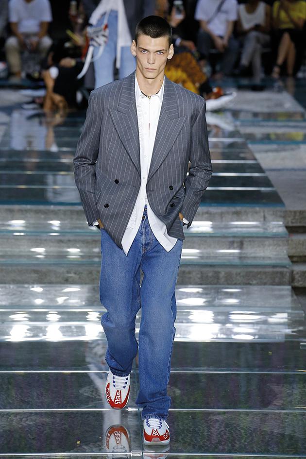 Versace, Runway report, blazer and jeans