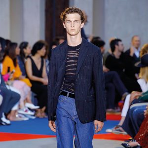 Roberto Cavalli, Runway report, blazer and jeans