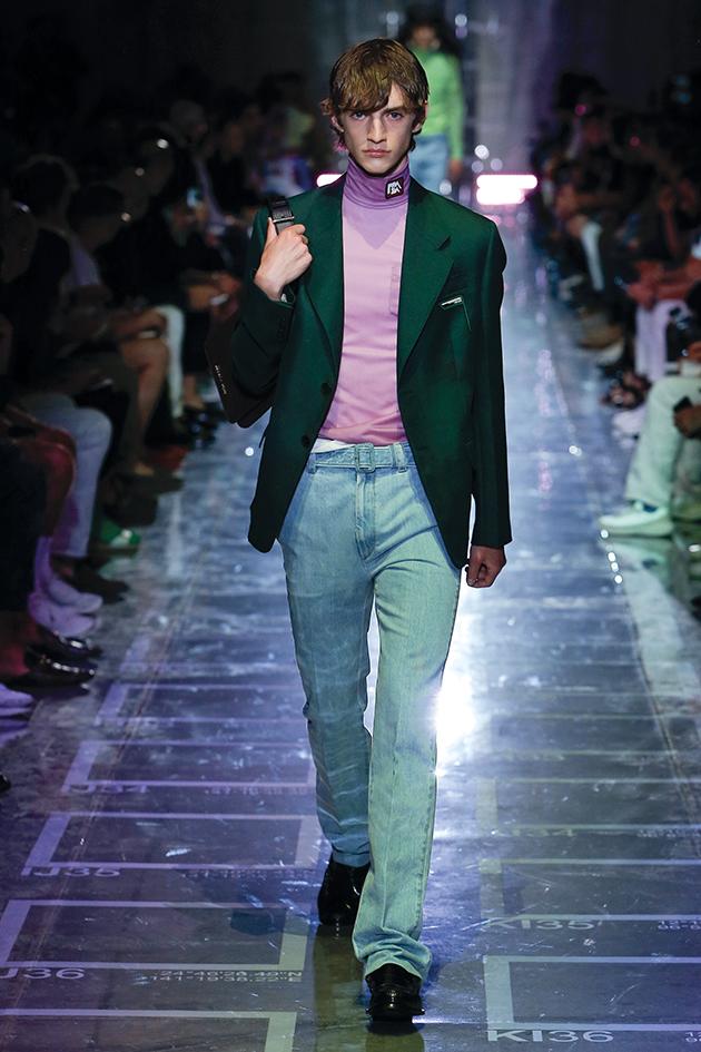Prada, Runway report, blazer and jeans