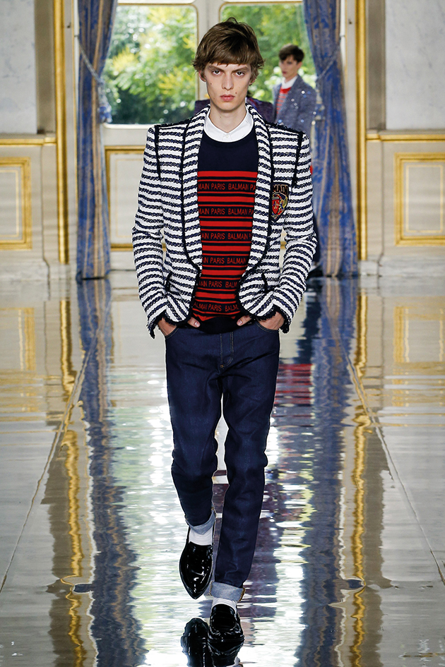 Balmain, Runway report, blazer and jeans