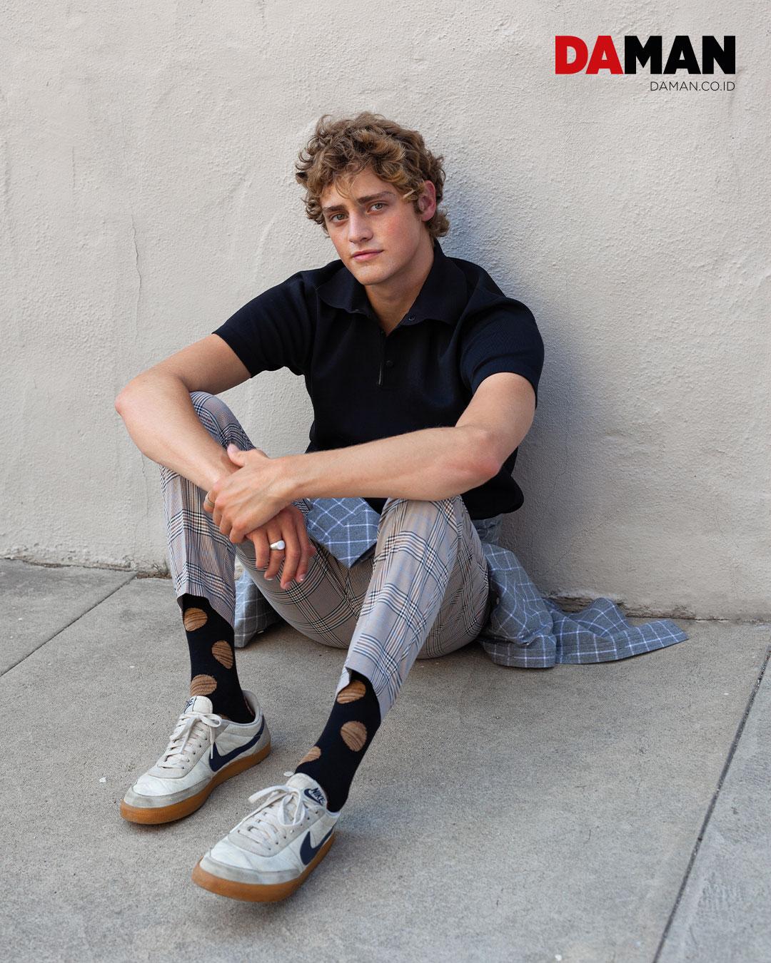 Rudsak - poloshirt Rupert & Buckley - plaid flannel H&M - plaid pant Sock It Up - socks Nike - sneakers