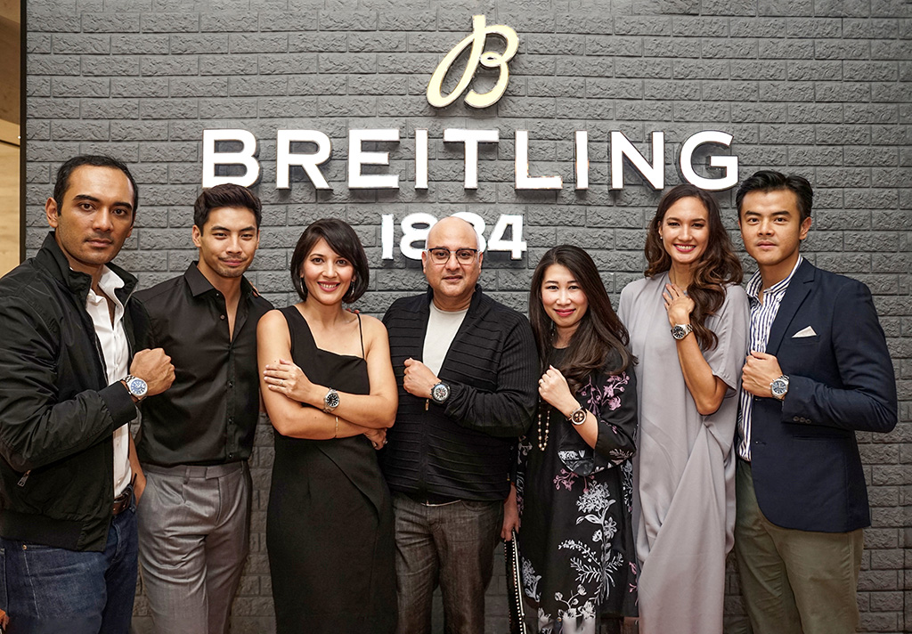 Ario Bayu, Yoshi Sudarso, Hannah Al Rashid, Irwan Danny Mussry, Shannon Hartono, Nadine Chandrawinata and Dion Wiyoko at a Breitling event