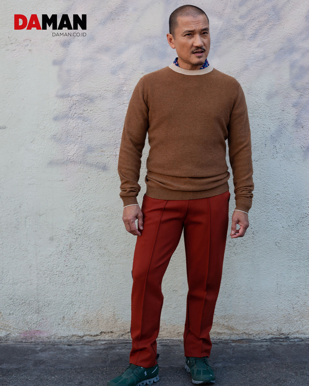 Sweater by Loft 604, Shirt by Raga Man, Jogger pants by 4 Funky Flavours, Sneakers by On
