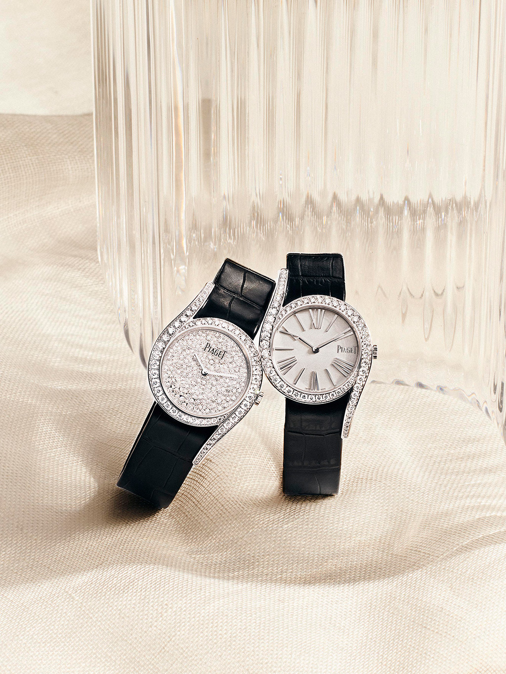 Two Limelight Gala Automatic watches Opposite Page The Altiplano Ultimate Automatic in 18K rose gold