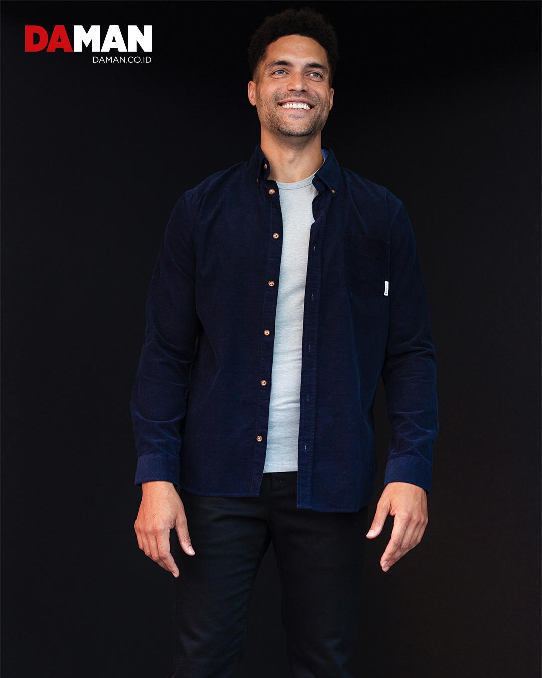 Shirt by Ben Sherman; T-shirt by Calvin Klein; pants by J Crew